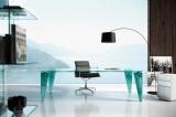 Skleněný kancelářský stůl ATLAS